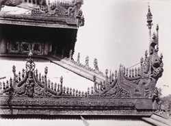 Carving in eaves and hips of Queen's Monastery, [Mandalay]